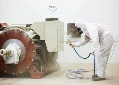 painting 6000V motors