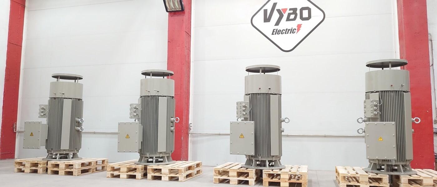 electric motors on big pumps